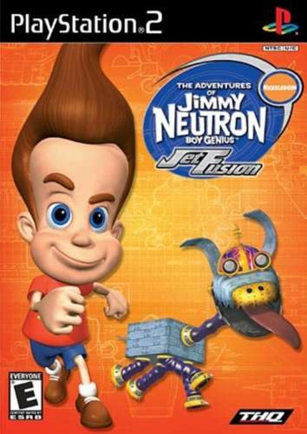 PS2 The Adventures of Jimmy Neutron Boy Genius Jet Fusion