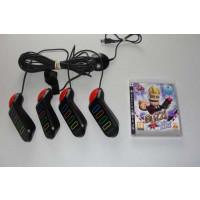 PS3 Buzz Quiz World + Wired Buzzer Controllers