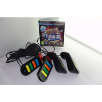 PS3 BUZZ THE MUSIC QUIZ + Wired Controllers