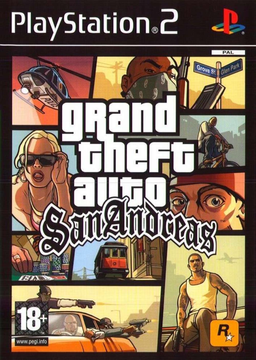 Grand Theft Auto GTA San Andreas PS2