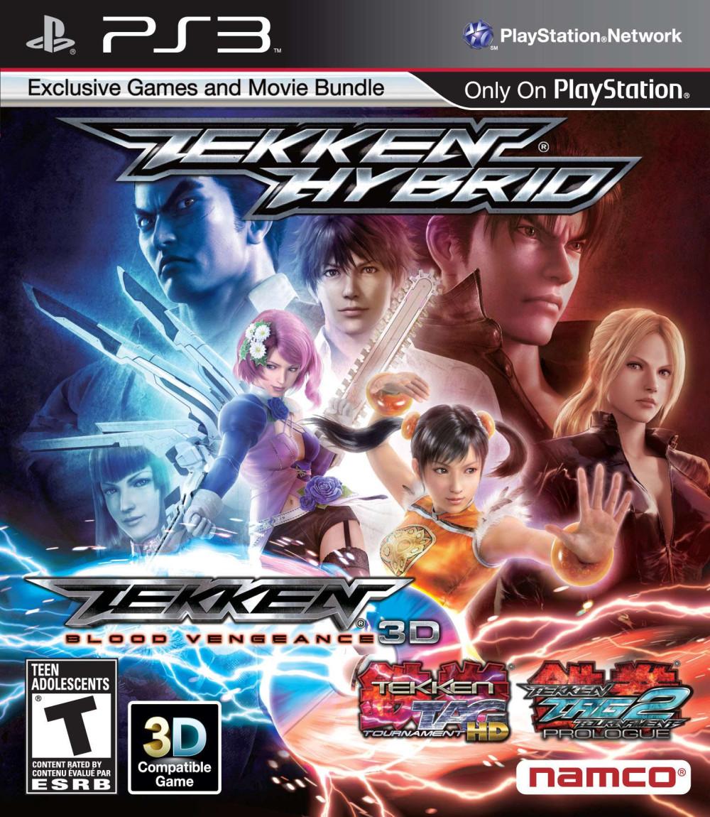 PS3 TEKKEN HYBRID (Tekken Tag Tournament 1, 2  HD+ Movie Tekken Blood Vengeance)