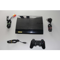 PS3 Super / Ultra Slim Console 12 GB + Dualshock 3 sixaxis Controller