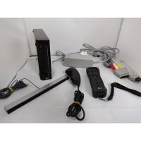 Nintendo Wii Black Console (zwaar bekrast) + Controller + Nunchuck