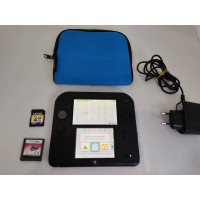 2DS Console (Black/Blue) + DS Viewtiful Joe Double Trouble