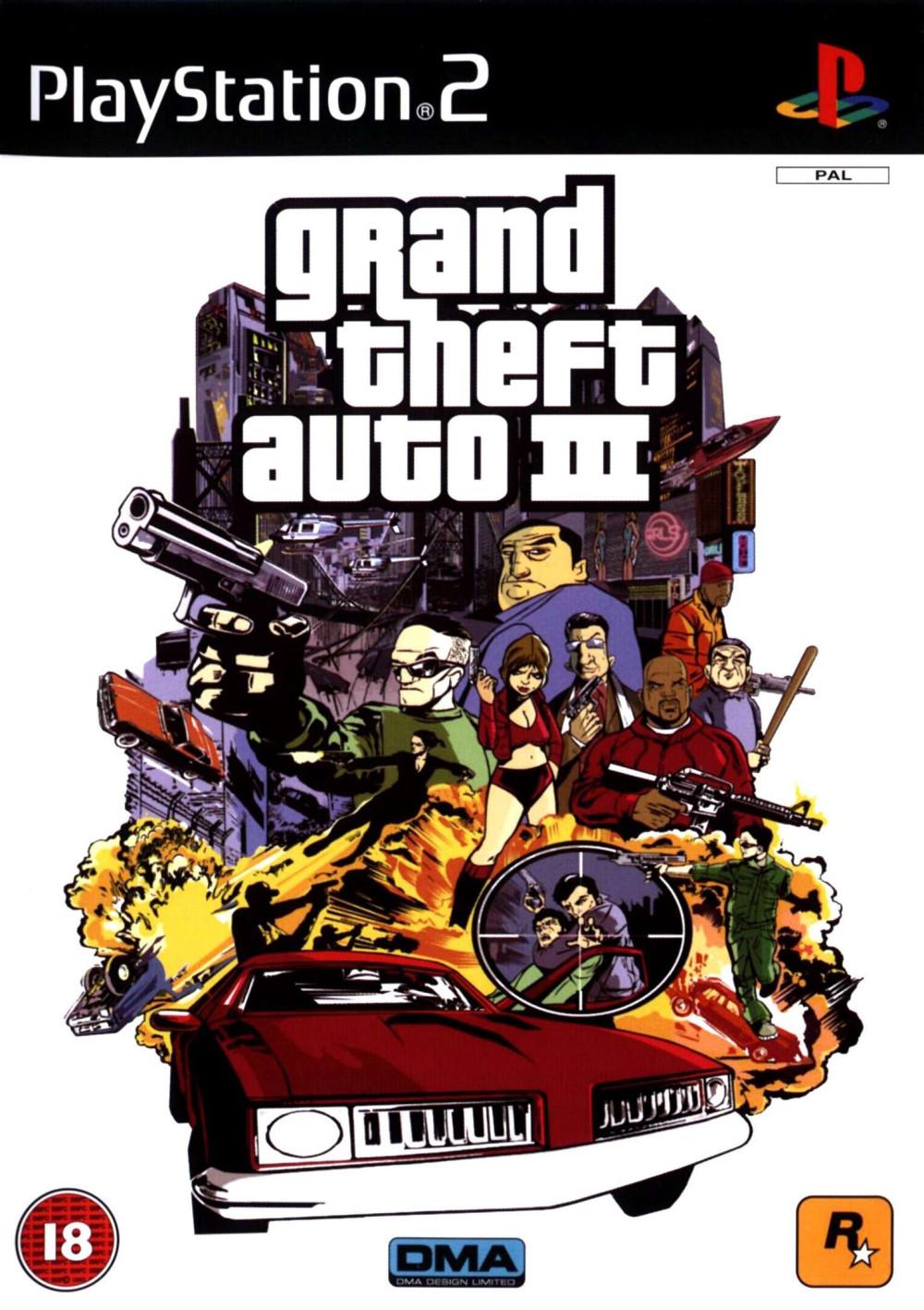Grand Theft Auto III GTA 3 PS2