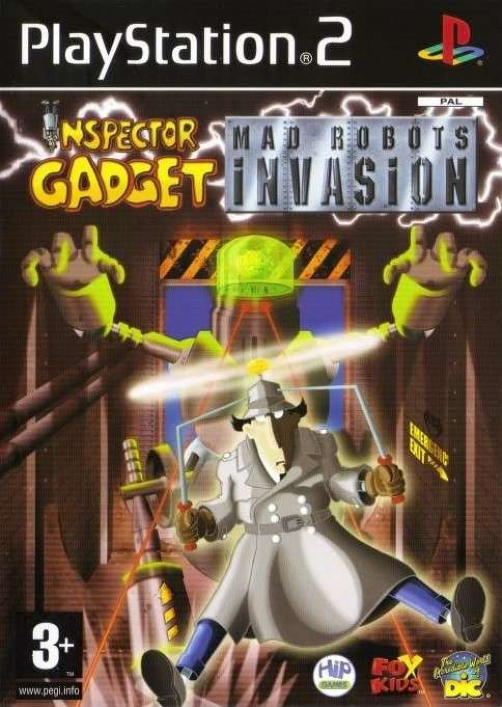 PS2 INSPECTOR GADGET Mad Robots Invasion