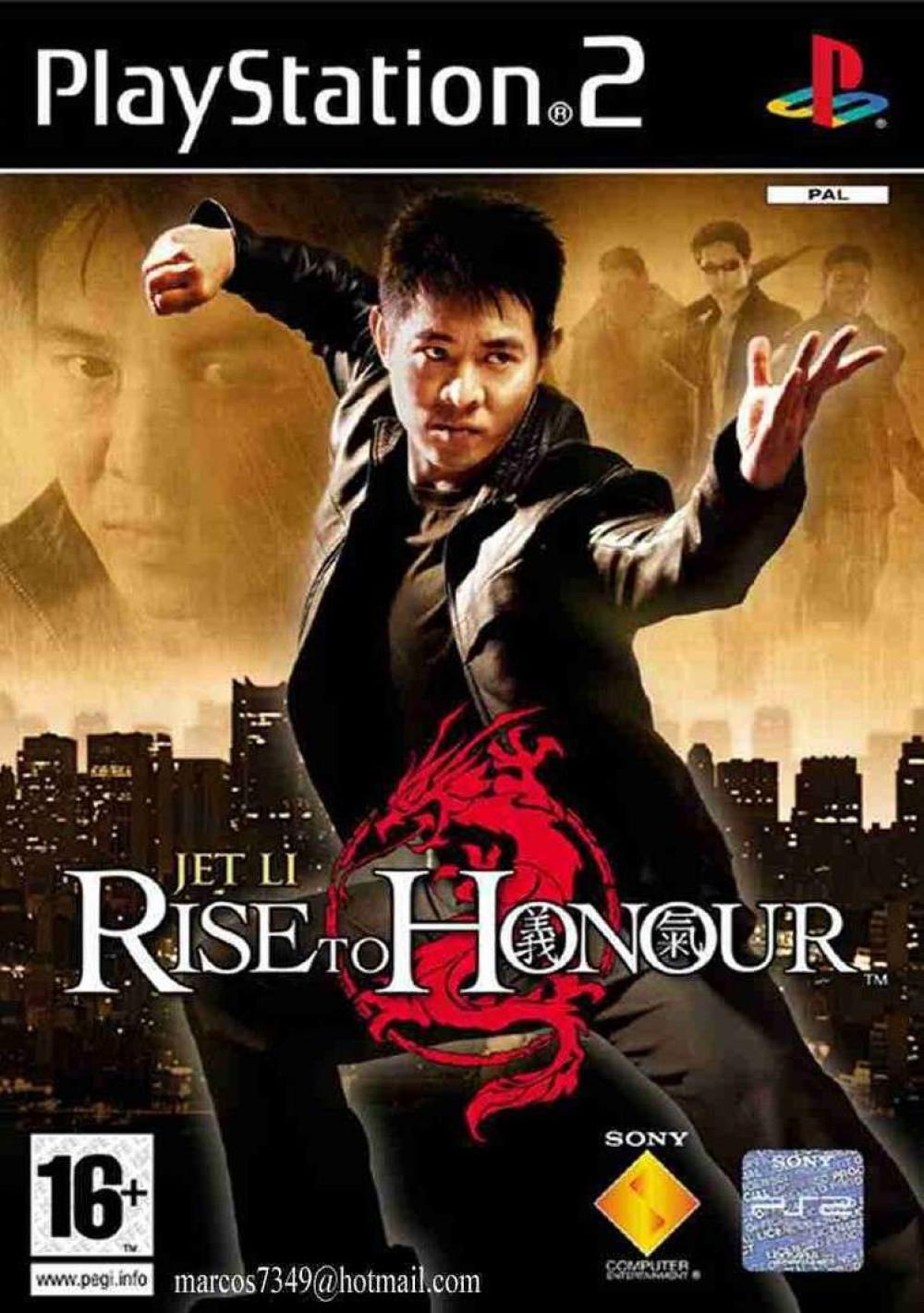 PS2 Jet Li Rise To Honour