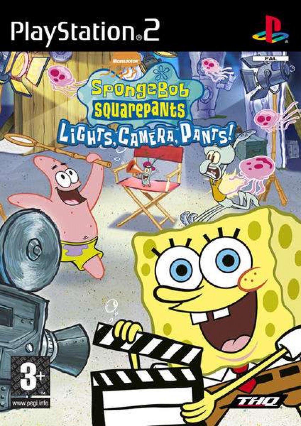 Spongebob Squarepants Lights Camera Pants PS2