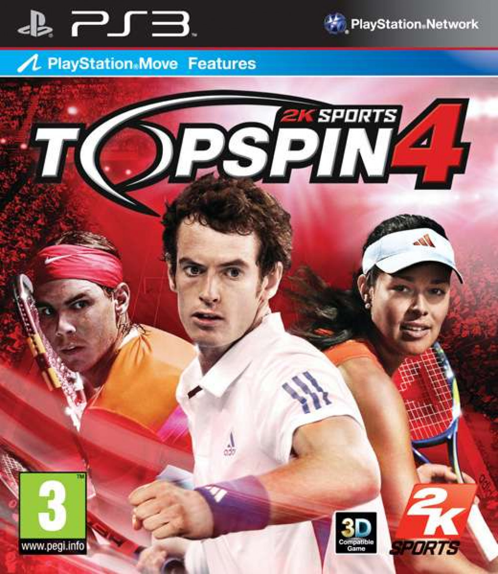 PS3  2K Sports TOP SPIN TOPSPIN 4